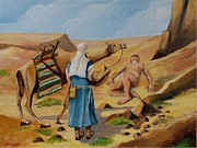 Samaritan Paintings - The good Samaritan by Jean Pierre Bergoeing