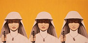 Nuns Painting Prints - The Good the Bad and the Ugly Print by Anthony  Moman