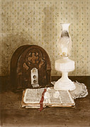Oil Lamp Prints - The Gospel Hour Print by Monte Toon