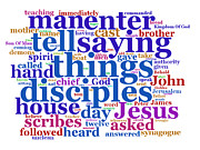 Word Cloud Digital Art - The Gospel of St Mark Concept Cloud by Philip Ralley