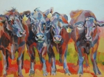 Barnyard Animal Paintings - The Gossips by Kimberly Santini