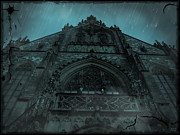Haunted Digital Art - The Gothic Cathedral by Absinthe Art By Michelle LeAnn Scott