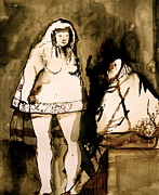 Two Ladies Drawings - The Goya Sisters by Jain McKay