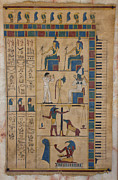 Hathor Posters - The Graceland Papyrus Poster by Richard Deurer