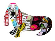 Dachshund  Art Mixed Media - The Graffiti Hound by Brian Buckley