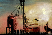 Silos Mixed Media Posters - The Granary Poster by R Kyllo