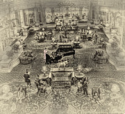Piano Player Prints - The Grand BallRoom Print by Arnie Goldstein