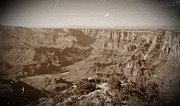 The View Mixed Media Prints - The Grand Canyon in Sepia Print by Chalet Roome-Rigdon