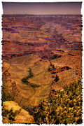 Trails Prints - The Grand Canyon Vintage Americana Print by David Patterson