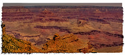 Trails Prints - The Grand Canyon Vintage Americana III Print by David Patterson