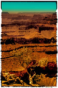 Trails Prints - The Grand Canyon Vintage Americana VI Print by David Patterson