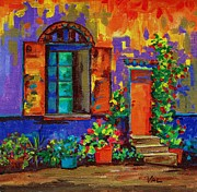 Steps Painting Originals - The Grand entrance by Val Stokes