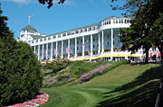Spencer Meagher Framed Prints - The Grand Hotel Mackinac Island Framed Print by Spencer Meagher