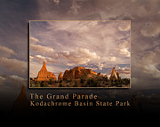 Slickrock Posters - The Grand Parade of Kodachrome Basin State Park Southern Utah Poster by David Rigg