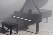 Grand Piano Digital Art Posters - The Grand Piano Poster by Liam Liberty