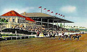 Jockey Paintings - The Grand Stand And Clubhouse Of The Miami Jockey Club by Dwight Goss