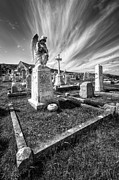 Black Digital Art - The Graveyard by Adrian Evans