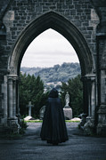 Tombstones Framed Prints - The Graveyard Framed Print by Joana Kruse