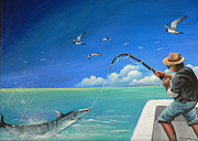 Tropical Fish Paintings - The Great Catch 1 by Susi Galloway