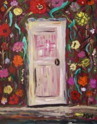 Primitive Raw Art Paintings - The Great Cover Up by Mary Carol Williams