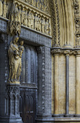 Religious Statues Prints - The Great Door Westminster Abbey London Print by Tim Gainey