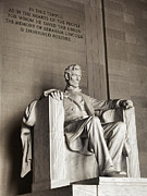 Historic Statue Prints - The Great Emancipator Print by Olivier Le Queinec