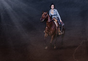 Quarter Horse Posters - The Great Escape Poster by Susan Candelario