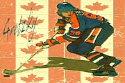 Canadian Sports Artist Prints - The Great Gretzky - Hockey Canada Poster Print by Peter Art Print Gallery  - Paintings Photos Posters