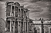 Selcuk Framed Prints - The Great Library of Ephesus Framed Print by Babur Yakar