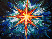 Star Burst Paintings - The Great Light by Suzanne King