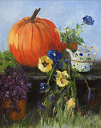 Squash Paintings - The Great Pumpkin by Sandy Lane