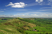 Derbyshire Cross Prints - The Great Ridge and the Hope Valley Print by Rod Johnson
