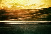 Sunset Digital Art Prints - The Great Sand Dunes Print by Brett Pfister