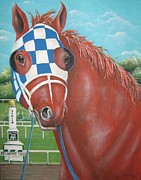 Blinkers Paintings - The Great Secretariat by Patrice Torrillo