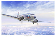 Golden Age Of Flight Framed Prints - The Great Silver Fleet Framed Print by Mark Karvon