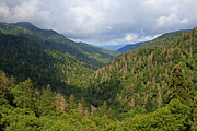 Smoky Skies Prints - The Great Smoky Mountains II Print by Gene Berkenbile