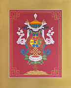 Thangka Prints - The Great Vase Print by Ies Walker