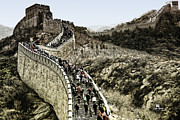Wonder Of The World Prints - The Great Wall of China Print by Russ Harris