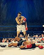 Muhammad Paintings - The Greatest  Muhammad Ali by Ronald Young