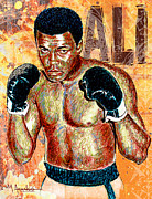 Boxer Drawings Prints - The Greatest of All Time Print by Maria Arango