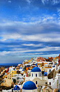 Oia Posters - The Greek Isles-Oia Poster by Tom Prendergast