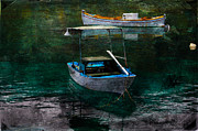 Fishing_boat Posters - The Greek Way Poster by Randi Grace Nilsberg
