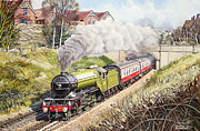 Steam Train Paintings - The Green Arrow by David Nolan