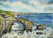 Water Color Painting Originals - The Green Bridge of Wales by Andrew Read