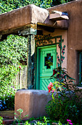 Tapestries Framed Prints - The Green Door Framed Print by Jim McCain