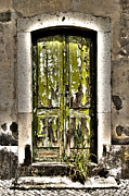 Flea Market Photos - The Green Door by Marco Oliveira