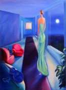 Shimmering Paintings - The Green Dress by Frederick Luff  GALLERY