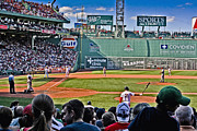 Red Sox Metal Prints - The Green Monster Metal Print by Dennis Coates