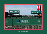 Sports Art Digital Art Posters - The Green Monster Fenway Park Poster by Tom Prendergast