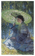 Impressionism Acrylic Prints - The Green Parasol Acrylic Print by Guy Rose